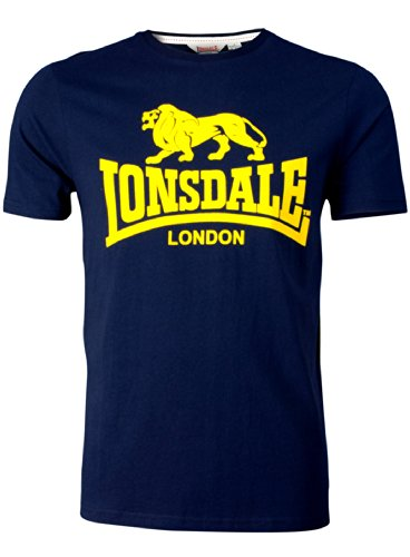 Lonsdale Herren Langarmshirt T-Shirt Smith Reloaded Navy