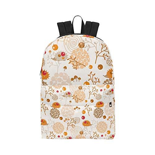 Entzückende niedliche Igel mit Apple Classic niedliche Wasserdichte Laptop Daypack Taschen School College Kausal Rucksäcke Rucksäcke Bookbag für Kinder, Frauen und Männer Reisen mit Reißverschluss