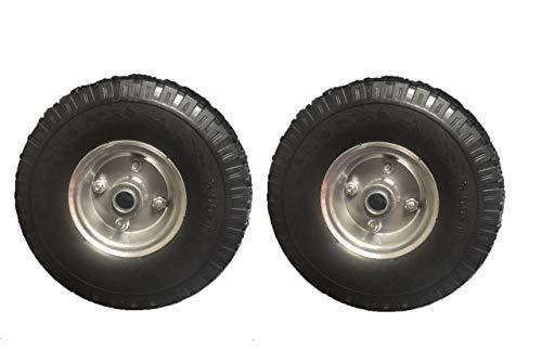 Lot de 2 roues de brouette 3.00-4/85 x 260 mm