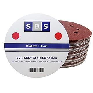 50 Stück SBS Schleifscheiben Klett Exzenter Schleifpapier Ø 125 mm 8 Loch Korn 150
