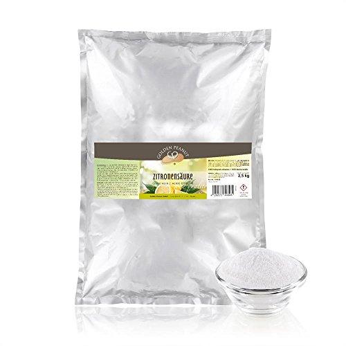 Zitronensäure monohydrat E-330, Lebensmittelqualität 2.5 kg Beutel