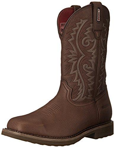Braun Rindsleder Western-boot (Rocky Boots Stiefel BARNTEC RKW0126 Wasserdichter Westernreitstiefel (42.5 (9.5 US), Dark Brown (Weite M)))