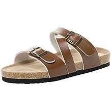 Zapatillas de Corcho para Mujer, Sandalias y Zapatillas de Playa.Moda para Mujer Correa