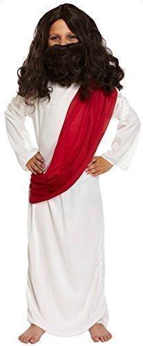 Kinder Jungen Joseph Jesus Weihnachten Krippenspiel Ostern Kostüm Kleid Outfit - Weiß, 7-9 (Herren Kostüme Joseph)