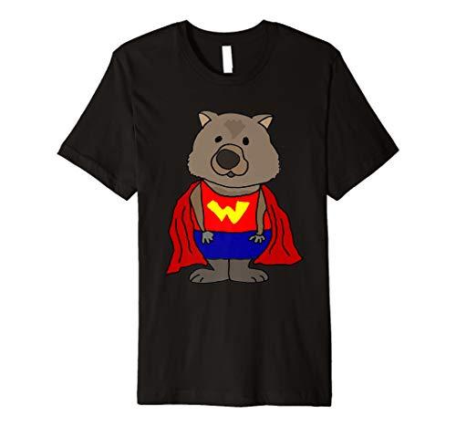 Smilemoretees lustiges Wunder-Wombat-Superheld-T-Shirt