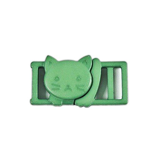 PARACORD PLANET Cat Head Form Kunststoff Sicherheit Breakaway 3/20,3cm (11mm) Schnalle, Grün, 10 Pack