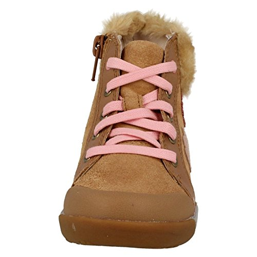 Clarks LilfolkIce Pre Girl's First Boots in Tan Leather peau