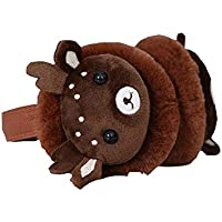 SUPRERHOUNG Cartoon Deer Head Muffs Warm Plush Ear Warmers Invierno Outdoor Earmuffs (Coffee) (Color : Coffee, tamaño : 14cm)