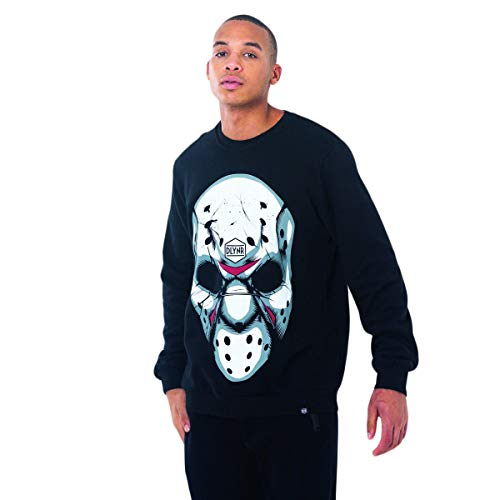 DOLLY NOIRE Felpa Uomo Hockey Mask Crewneck SW93 (M - Black) (Crewnecks Hockey)