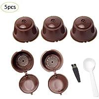 Waroomss - Capsule Filtro Ricaricabili con Caffè, confeziona da 5, per macchinetta Dolce Gusto
