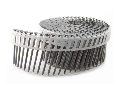 B&C Eagle A214X092HDRPC Round Head 2-1/4-Inch x .092 x 15 Degree Hot Dip Galvanized Ring Shank Plastic Collated Coil Framing Nails (800 per box) by B & C Eagle (Dip Hot Ring)