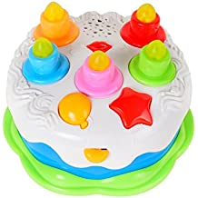 Baoli Velas de soplar Pastel de cumpleaños Set de juguetes de juguetes para niños Niños Bebé