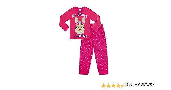 The PyjamaFactory Cool Pigiama Tutto Il Giorno Cuore Rosa Nero Ragazze Cotone Pigiama