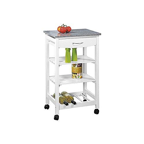 Kesper Küche Auto, Holz, Weiß, 47x 37x 83cm - Weiße Küche, Trolley