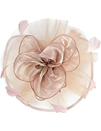 F Fityle Blumen Fascinator Haarreif Braut Party Kopfschmuck Gatsby Kostüm Accessoires 20er Jahre Flappers Feder Haarband