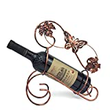 MHO Butterfly Wine Rack Freistehende Metall-Wein-Rack Dekorative Weinflasche Halter, Wein-Accessoire Countertop Tabletop-Wein Regal Großes Geschenk,B