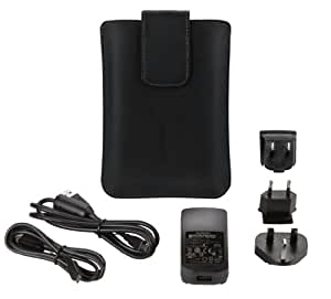 Garmin Travel Accessory Pack for 5 inch Sat Navs with Carry Case, AC Charger, International Adapter Plugs and USB Cables