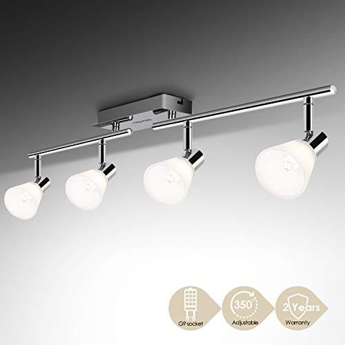 Albrillo Faretti LED da Soffitto Orientabili, 4 Lampadine G9 da 5 W Plafoniera, Lampadario Moderno a Bracci Regolabili, l'Illuminazione da Interno per Salotto, Cucina o Camera da letto, IP20