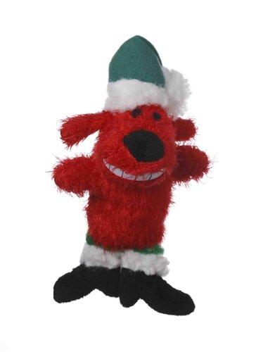 Von Multipet 's Red 6Santa Loofa Plüsch Hundespielzeug, DASS quietscht.