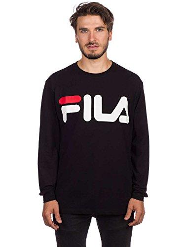 fils pullover Fila Sweatshirt Herren URBAN LINE Classic Logo Long Sleeve 680485 002 Black, Größe:XL
