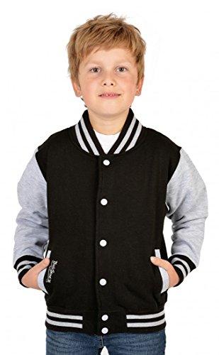 Jungen USA Collegejacke - Beale Street 56 - in schwarz - Geschenk / cooles Rockabilly Outfit für Schule oder Freizeit, Kinder Größe:XL /...