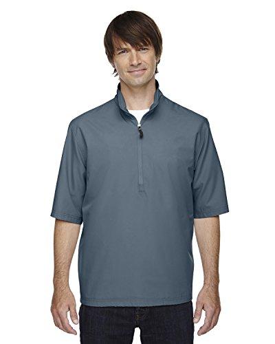 North End Mens Micro Plus Short Sleeve Windshirt (88084) -Glacier BL -S -
