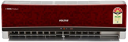 Voltas 1.5 Ton 5 Star Split AC (185 EYR, Wine Red)