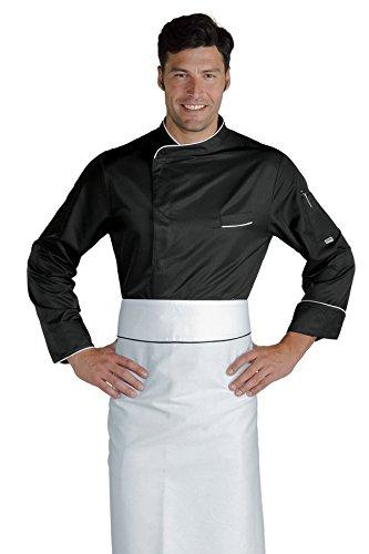 Isacco Giacca cuoco Bilbao - Isacco Nero+Bianco, Nero+Bianco, M, 100% Poliestere Superdry, Manica Lunga