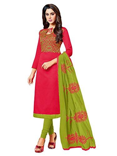Mrinalika fashion Cotton Silk dress material for womens (5KMN709_salwar suit dress material_Free...