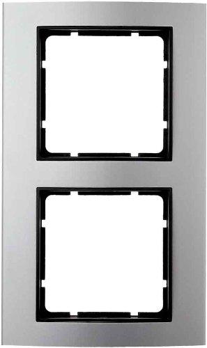 Berker - marco 2 elementos b3 aluminio/antracita Ref. 6511530002