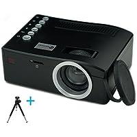 Build Excellent Vidéoprojecteur Portatif Pico Projecteur LED Mini Projecteur LCD Home Cinéma (UC18)