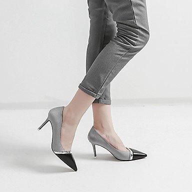 Moda donna sexy sandali scarpe donna Suede Stiletto Heel tacchi Comfort Punta tacchi Abito casual più colori disponibili Grey