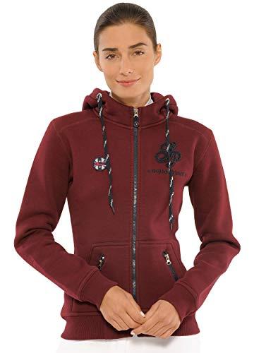 SPOOKS Damen Sweatjacke, Kapuzen-Jacke Mädchen Kinder Frauen - Awa Jacket Bordeaux XXL