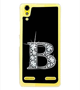 Alphabet B 2D Hard Polycarbonate Designer Back Case Cover for Lenovo A6000 :: Lenovo A6000 Plus :: Lenovo A6000+