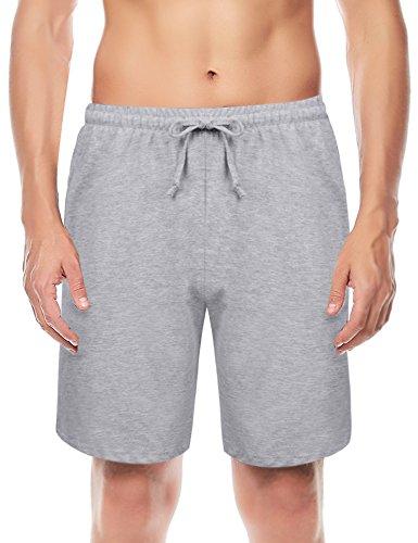 Hawiton Pantalones de Pijama para Hombre Cortos Algodón