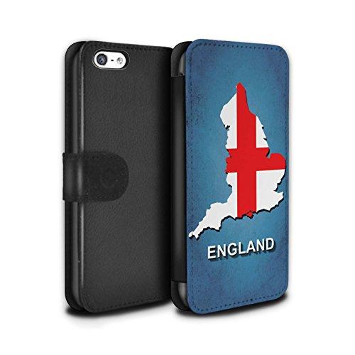 STUFF4 PU-Leder Hülle/Case/Tasche/Cover für Apple iPhone 8 Plus / Italien/Italienisch Muster / Flagge Land Kollektion England/Englisch