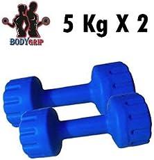 Bodygrip 10KG HMEGYM Dumbbell, 5Kg Set of 2 (Blue)