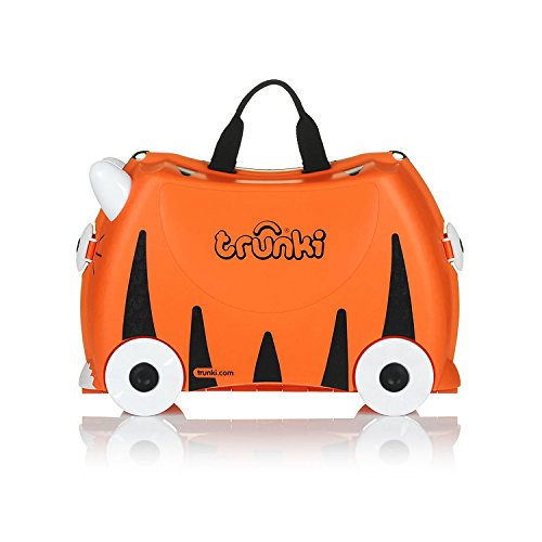 "Trunki Ride-On Suitcase: ""Tipu"" Tiger print"