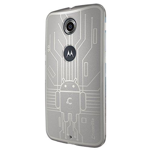 CruzerLite Nexus6-Circuit-Clear Bugdroid Schluss Schutzhülle für Motorola Nexus 6 klar