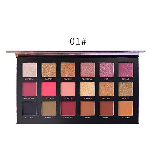 18 Palettes Fard à PaupièRes De Maquillage Ombre à PaupièRes Mat Professionnelle De CosméTiques De Matt LEEDY