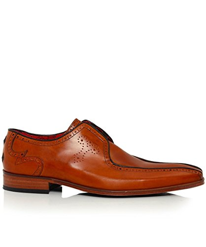 Jeffery-West Hommes chaussures de scarface en cuir twinseam Miel Miel