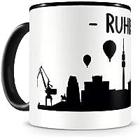 """Schriftzug /""""Guten Morgen Essen!/"""" mit Skyline bei Nacht WANDKINGS Tasse"""