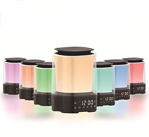 Fantasysmoke Aromathérapie Humidifiant Réveil Électronique LED Lampe De Chevet Veilleuse Réveil Lampe D'Ambiance