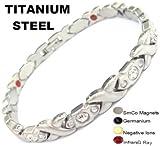 Titanio magnetico energia germanio bracciale Potenza Bracciale Salute Bio 4in1 106