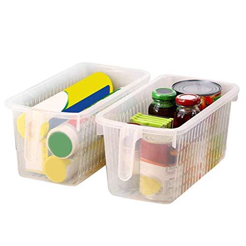 Kurtzy 4 piezas Organizador de almacenamiento para frigorífico con ma