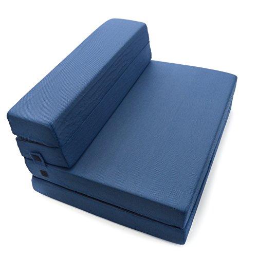 Milliard Espuma de Triple Plegable colchón y Cama de sofá/sillón Cama para...