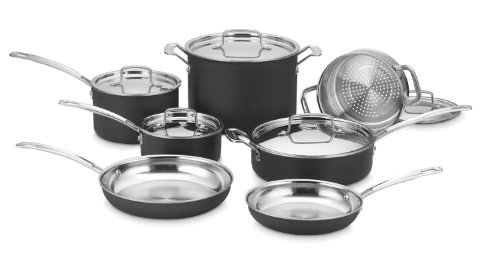 Cuisinart MCU-12N MultiClad Unlimited Dishwasher Safe 12-Piece Cookware Set