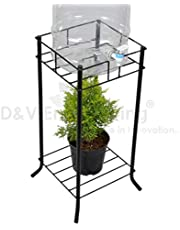 D&V Engineering-Iron Water Dispenser/can/bottle Stand for Home and Office,Square ring 27cm, Height-53cm, 1-Pc, Black