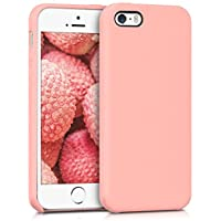 kwmobile Funda para Apple iPhone SE/5/5S - Case para móvil de TPU silicona - Cover trasero en rosa oro mate