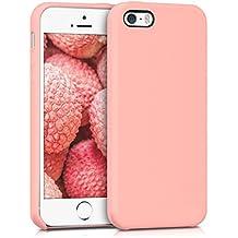 kwmobile Funda para Apple iPhone SE / 5 / 5S - Case para móvil de TPU silicona - Cover trasero en rosa dorado mate